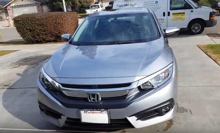 2017 Honda Civic with Reactive Polymer Coating